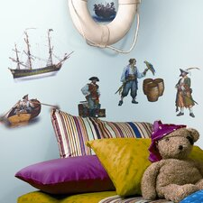 Studio Designs 17 Piece Pirate Wall Decal