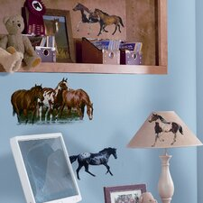 Studio Designs 24 Piece Wild Horses Wall Decal