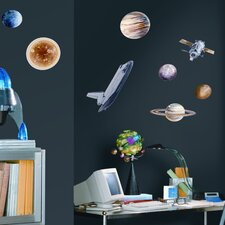 Studio Designs 24 Piece Space Travel Wall Decal