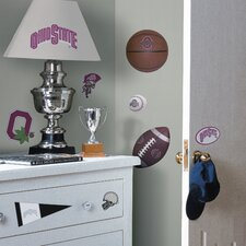 Collegiate Sports Appliqué 22 Piece Ohio State Buckeyes Wall Decal