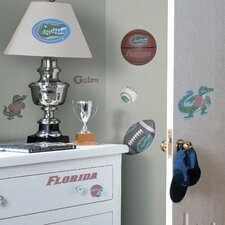 Collegiate Sports Appliqué 23 Piece Florida Gators Wall Decal