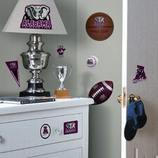 Collegiate Sports Appliqué 25 Piece Alabama Crimson Tide Wall Decal