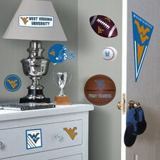 Collegiate Sports 27 Piece Appliqué West Virginia University Wall Decal