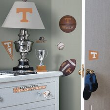 Collegiate Sports Appliqué 24 Piece Tennessee Volunteers Wall Decal