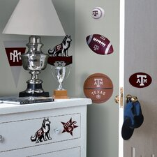 Collegiate Sports Appliqué 21 Piece Texas A and M Wall Decal