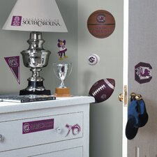 Collegiate Sports Appliqué 22 Piece South Carolina Gamecocks Wall Decal