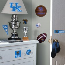Collegiate Sports Appliqué 24 Piece University of Kentucky Wildcats Wall Decal