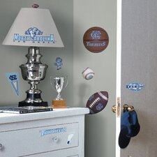 Collegiate Sports Appliqué 24 Piece UNC Tar Heels Wall Decal