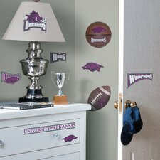 Collegiate Sports Appliqué 24 Piece Arkansas Razorbacks Wall Decal