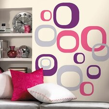 Room Mates Deco 30 Piece Modern Ovals Wall Decal