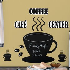 Room Mates Deco 22 Piece Coffee Cup Chalkboard Wall Decal