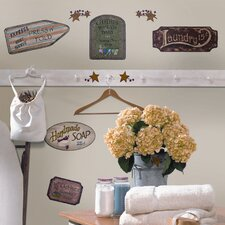 Room Mates Deco 26 Piece Country Signs Wall Decal