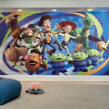 """Extra Large Murals Toy Story 3 10.5' x 72"""" Wallpaper"""