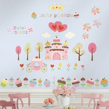 Room Mates Deco 56 Piece Happi Cupcake Wall Decal