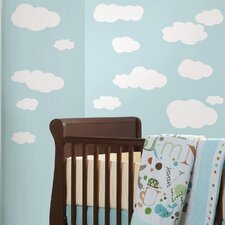 Room Mates Deco 19 Piece Clouds Wall Decal Set