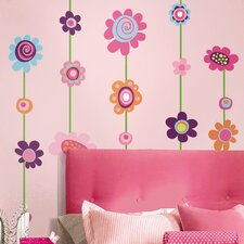 Room Mates Deco Flower Stripe Wall Decal