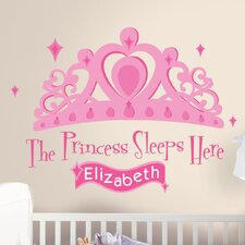Studio Designs 131 Piece Princess Sleeps Here Giant Wall Decal