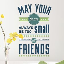 Deco 9 Piece Room for Friends Quote Wall Decal