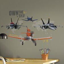 Popular Characters 19 Piece Planes - Own The Sky Wall Decal