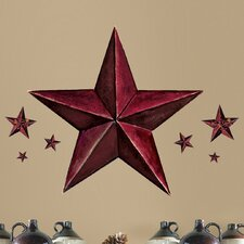 Peel and Stick Giant 18 Piece Barn Star Wall Decal