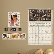 Peel and Stick Giant 10 Piece Family and Friends Dry Erase Calendar Wall Decal