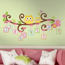 Peel and Stick Giant Happi Scroll Tree Letter Branch Wall Decal