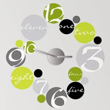 Peel and Stick Clock 19 Piece Circle Wall Decal