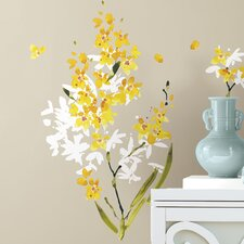 Deco 29 Piece Flower Arrangement Wall Decal