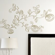 Deco 33 Piece Stylized Roses Wall Decal