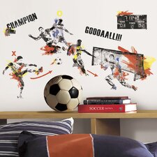 Studo 53 Piece Men's Soccer Champion Wall Decal