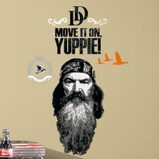 A and E Television 11 Piece Duck Dynasty Phil Wall Decal