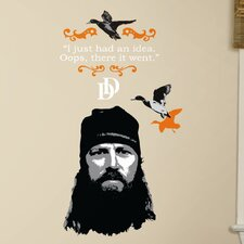 A and E Television 12 Piece Duck Dynasty Jase Wall Decal
