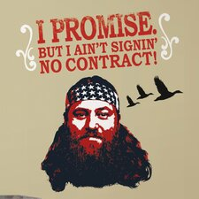 A and E Television 13 Piece Duck Dynasty Willie Wall Decal