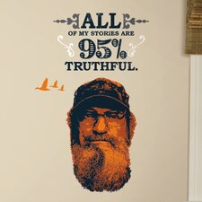 A and E Television 11 Piece Duck Dynasty Si Wall Decal