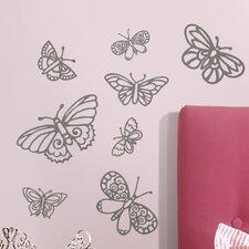 Glitter Butterflies Wall Decal