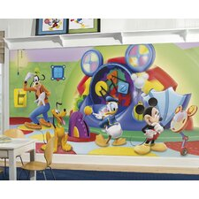Mickey and Friends Clubhouse Capers Prepasted Wall Mural