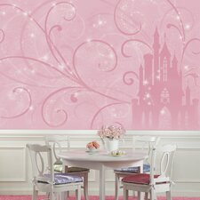 Disney Princess Scroll Castle Prepasted Wall Mural