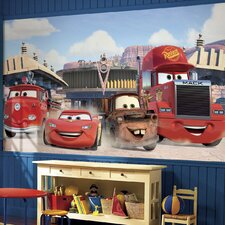 Cars Friends to The Finish Prepasted Wall Mural