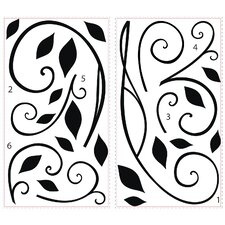 Deco Scroll Sconce Wall Decal