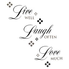 """Live Laugh Love"" 22 Piece Wall Decal Set"
