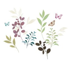 Deco Botanical Butterfly Wall Decal