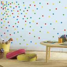 Primary Confetti Dots Wall Decal