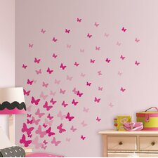 Flutter Butterflies 75 Piece Wall Decal Set