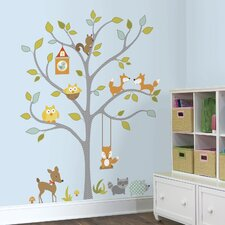 Woodland Fox and Friends Tree Wall Decal