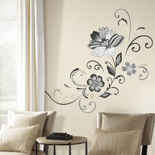 Deco 22 Piece Flower Scroll Wall Decal