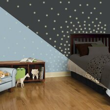 180 Piece Glow in The Dark Dots Wall Decal