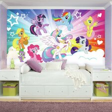 Prepasted My Little Pony Cloud XL Chair Rail Ultra-strippable Wall Mural