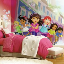 Prepasted Dora and Friends XL Ultra-strippable Wall mural