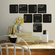 Deco Days of The Week Planner Chalkboard Wall Decal