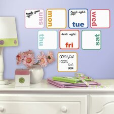 Days of The Week Planner Dry Erase Wall Decal